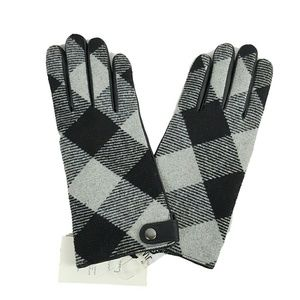 NWT Plaid and Leather Thinsulate Lined Gloves